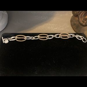 Beautiful Gold & Silver Cable Bracelet